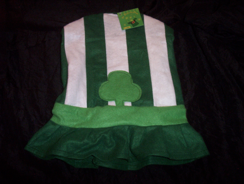St. Patricks Day Hat Leprechaun green/white