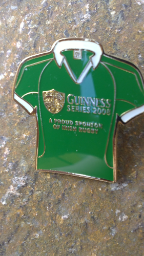 Guinness Pin, Rugby Trikot