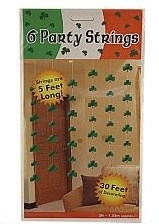 Shamrock Party Strings im 6er Pack
