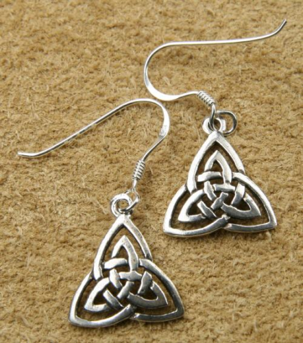Celtic Silver Earring triangular knot