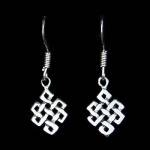 Celtic Silver Earring Endless Knot