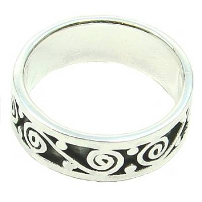 Celtic Silverring Spiral