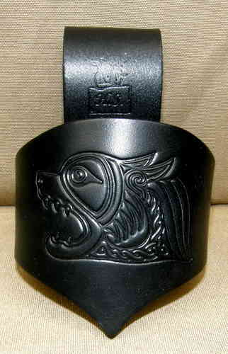 Celtic Drinking Horn Holder Wolf