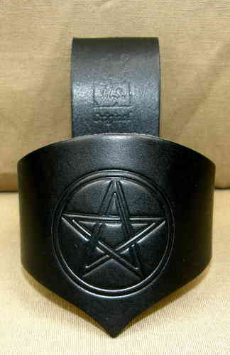 Celtic Drinking Horn Holder Pentagram